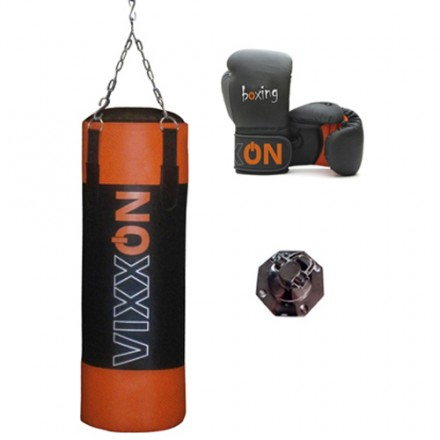 Kit Vixxon saco boxeo 90 y guantes boxeo
