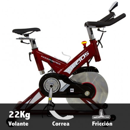 Bicicleta Spinning BH Helios Transmision Correa