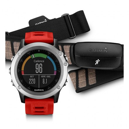 GPS Reloj Garmin Fenix 3 Rojo + cinta pectoral pack