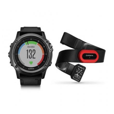 GPS Reloj Garmin Fenix 3 Zafiro HR a muñeca + cinta principal
