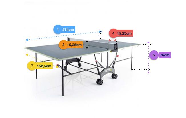 Medidas Mesa Ping Pong Homologadas por la ITTF