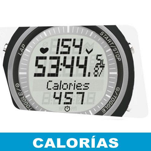 Pantalla Sigma PC 15 - Calorías consumidas
