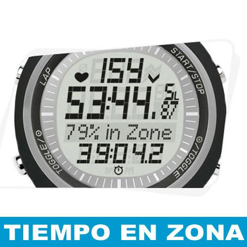 Pantalla Sigma PC 15 - Tiempo en zona de entrenamiento