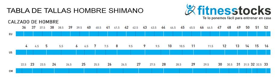 Tabla Tallas Hombre Zapatillas Shimano